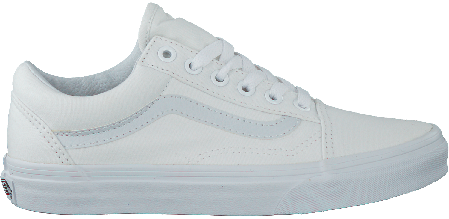 vans old skool dames wit leer