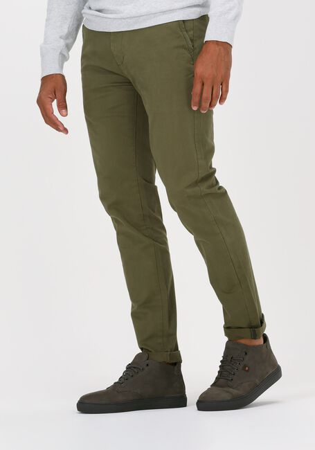 Donkergroene DSTREZZED Chino PRESLEY CHINO PANTS WITH BELT - large