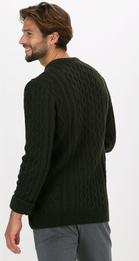 Olijf FORÉT Trui GROW WOOL CABLE KNIT - larger