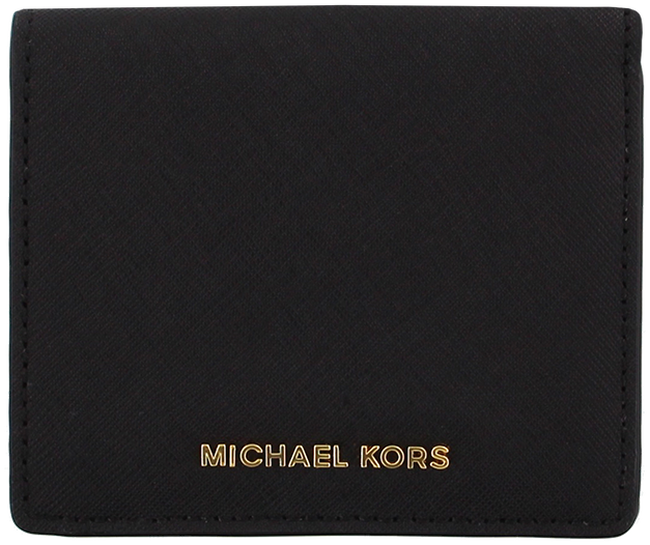 Zwarte MICHAEL KORS Portemonnee FLAP CARD HOLDER - large
