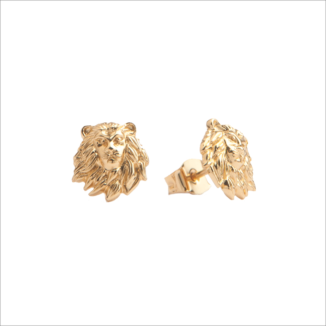 Gouden ATLITW STUDIO Oorbellen PARADE EARRINGS LION - large