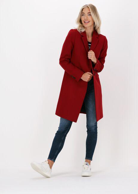 Rode TOMMY HILFIGER Mantel TH ESS WOOL BLEND CLASSIC COAT - large