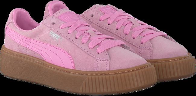Roze PUMA Sneakers SUEDE PLATFORM JR  - large