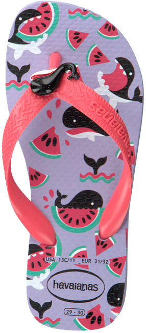 Paarse HAVAIANAS Teenslippers SLIM KIDS FANTASY  - large