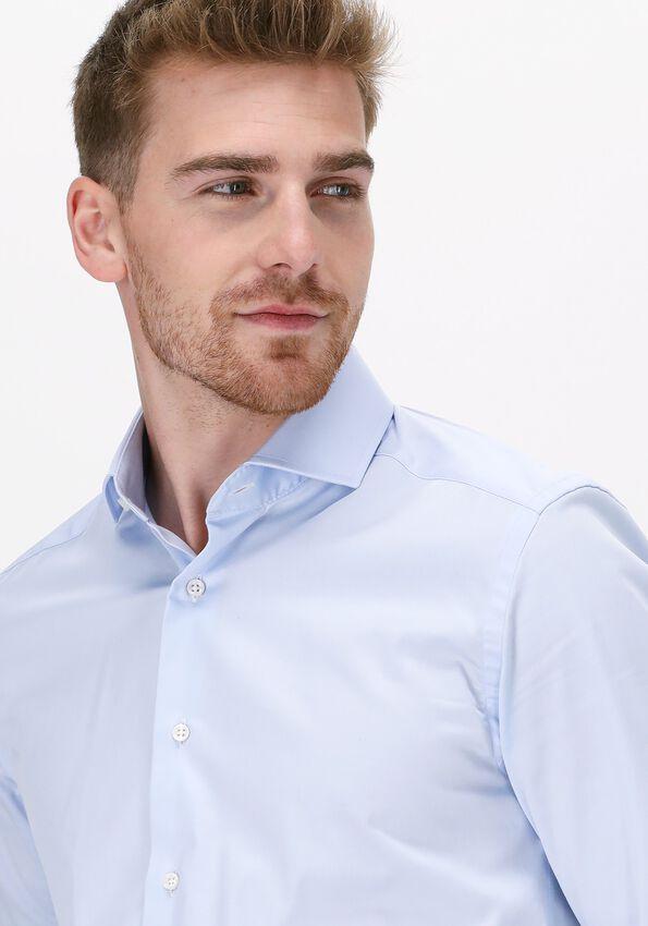 Blauwe PORTO MILANO Klassiek overhemd MILANO  - larger