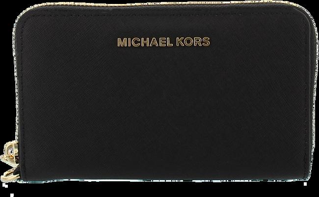 Zwarte MICHAEL KORS Portemonnee LG FLAT MF PHONE CASE - large