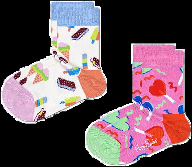 Roze HAPPY SOCKS Sokken 2-PACK KIDS SWEETS  - large
