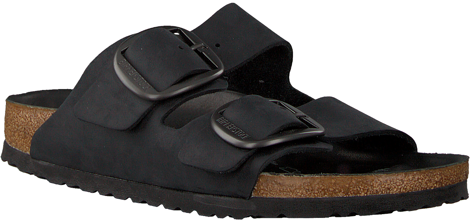 Zwarte BIRKENSTOCK Slippers ARIZONA BIG BUCKLE | Omoda