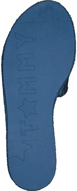 Blauwe TOMMY HILFIGER Slippers METALLIC FLAT MULE - large