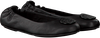 Zwarte TOMMY HILFIGER Ballerina's FLEXIBLE LEATHER BALLERINA  - small