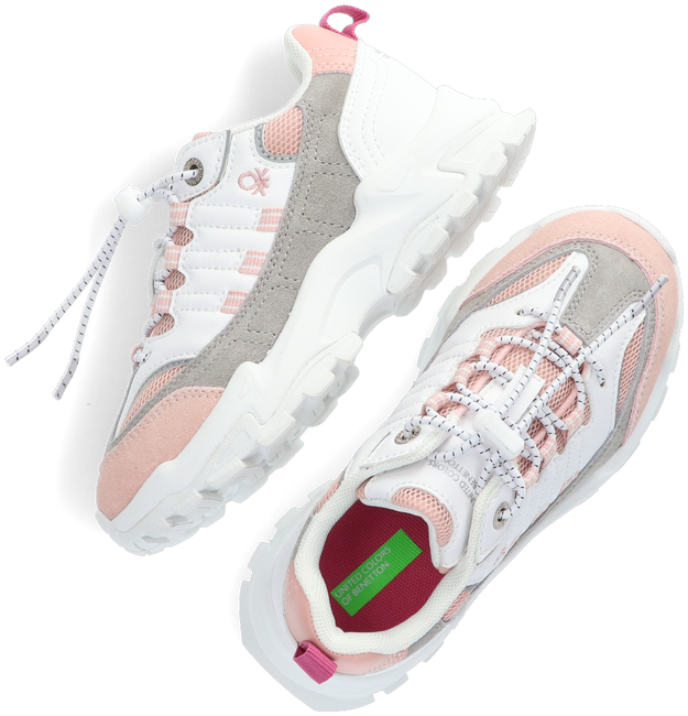 Witte BENETTON Lage sneakers MOTION MX COLORS  - large
