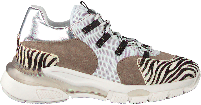 Witte CLIC! Lage sneakers CL-9855  - larger