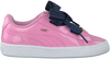 Roze PUMA Sneakers BASKET HEART PATENT KIDS  - small