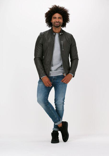 Lichtgrijze ANERKJENDT Sweater AKALLEN ORGANIC CREW - large