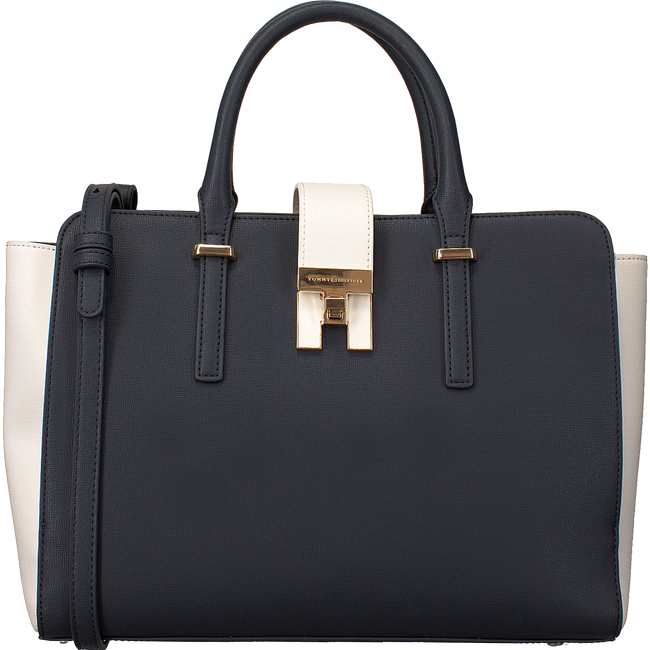 Blauwe TOMMY HILFIGER Schoudertas TH HERITAGE SATCHEL - large