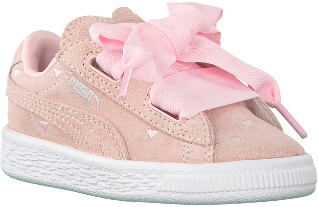 Roze PUMA Sneakers SUEDE HEART VALENTINE JR  - large