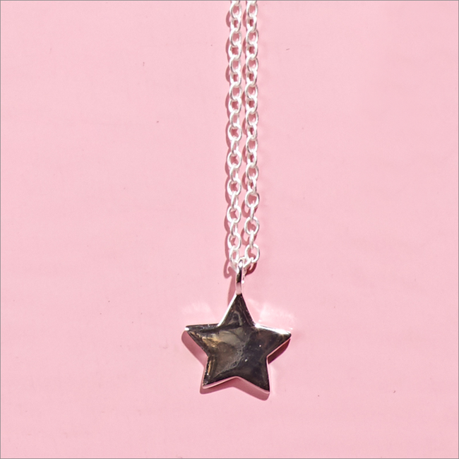 Zilveren ALLTHELUCKINTHEWORLD Ketting FORTUNE NECKLACE STAR - large