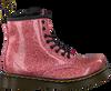 Roze DR MARTENS Veterboots 1460 GLITTER STARS  - small