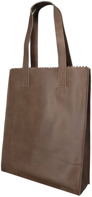 Taupe MYOMY Handtas LONG HANDLE ZIPPER - large