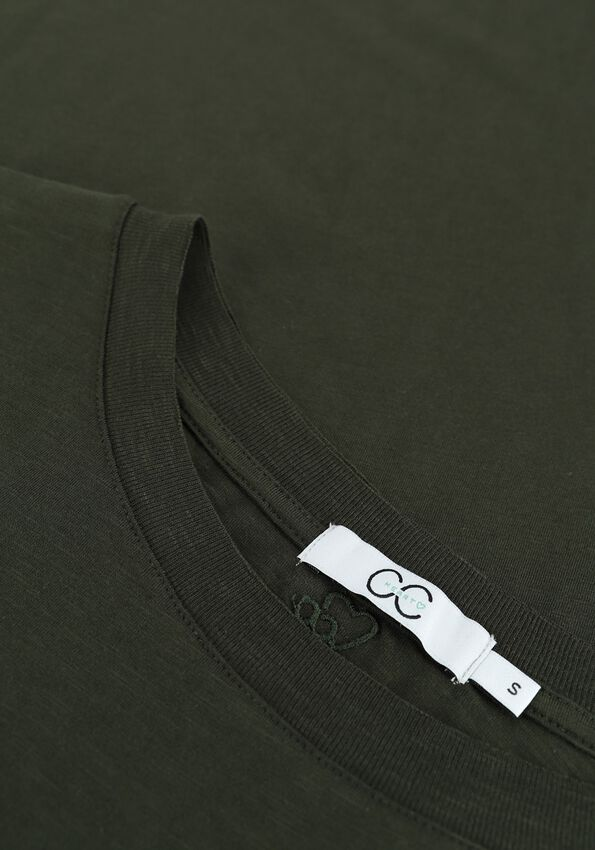 Donkergroene CC HEART T-shirt BASIC T-SHIRT - larger
