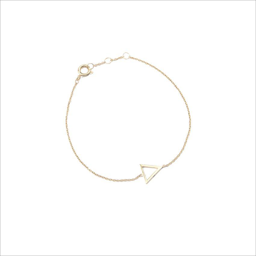 Gouden ATLITW STUDIO Armband SOUVENIR BRACELET OPEN TRIANGLE - larger