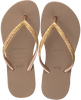 Gouden HAVAIANAS Teenslippers KIDS SLIM SHINY  - small