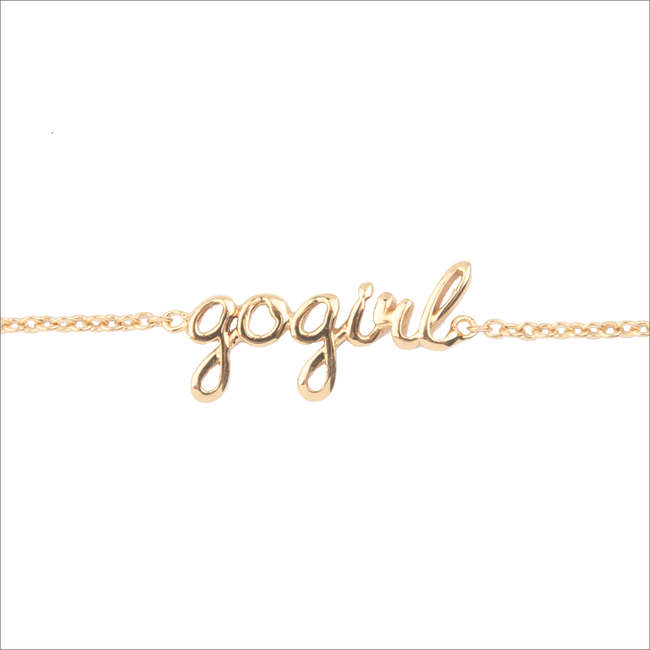 Gouden ALLTHELUCKINTHEWORLD Armband URBAN BRACELET GOGIRL - large