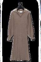 Bruine SELECTED FEMME Maxi jurk SLFSELENE LS KNIT DRESS B