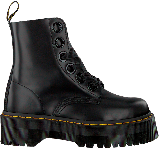 Zwarte DR MARTENS Veterboots MOLLY  - large