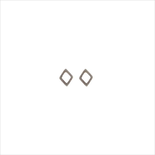 Zilveren ALLTHELUCKINTHEWORLD Oorbellen PETITE EARRINGS RHOMB - large