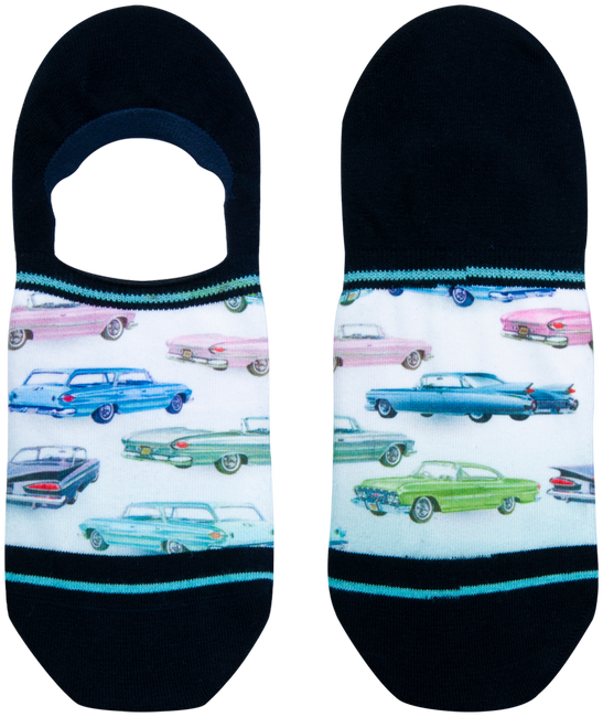 Blauwe XPOOOS Sokken CAR SHOW  - large
