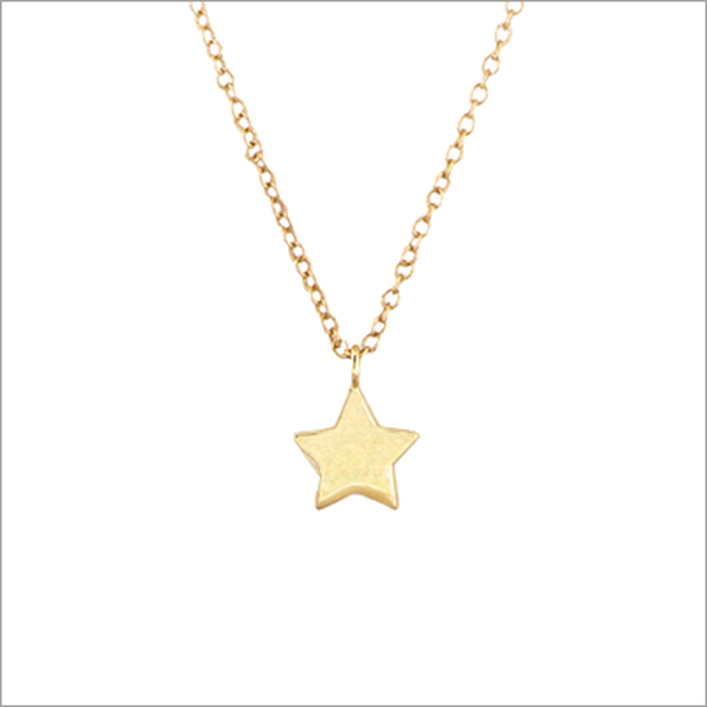 Gouden ALLTHELUCKINTHEWORLD Ketting FORTUNE NECKLACE STAR - large