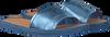 Blauwe TOMMY HILFIGER Slippers METALLIC FLAT MULE - small