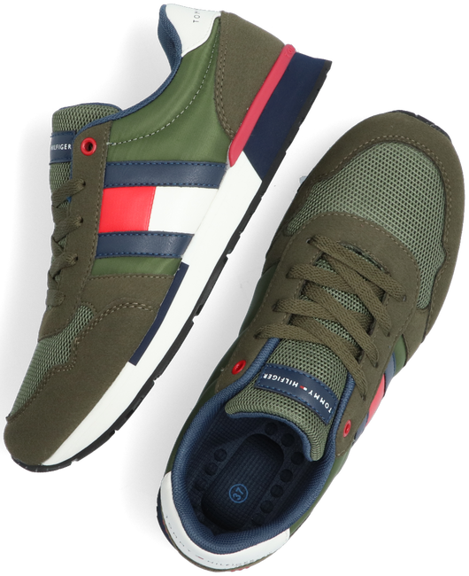 Groene TOMMY HILFIGER Lage sneakers LOW CUT LACE-UP T3B4-30482 - large