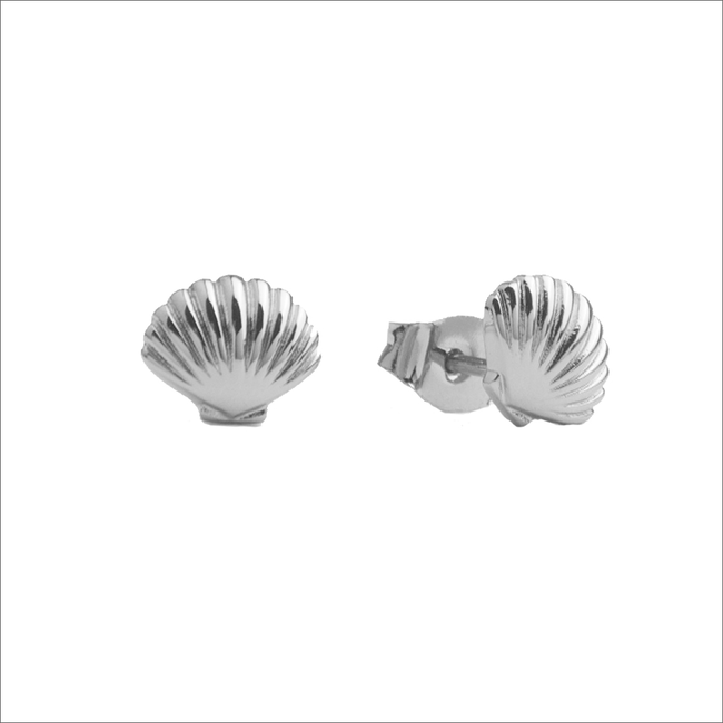 Zilveren ATLITW STUDIO Oorbellen PARADE EARRINGS SEA SHELL - large