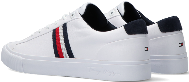 Witte TOMMY HILFIGER Lage sneakers CORPORATE LEATHER - large