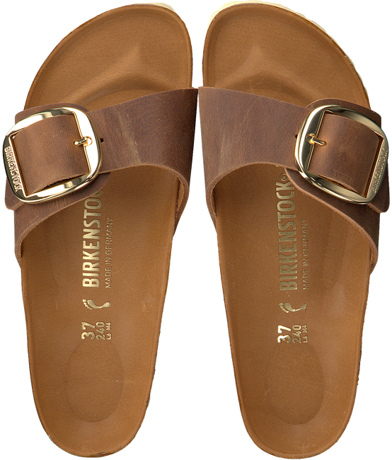 Cognac BIRKENSTOCK PAPILLIO Slippers MADRID BIG BUCKLE  - large