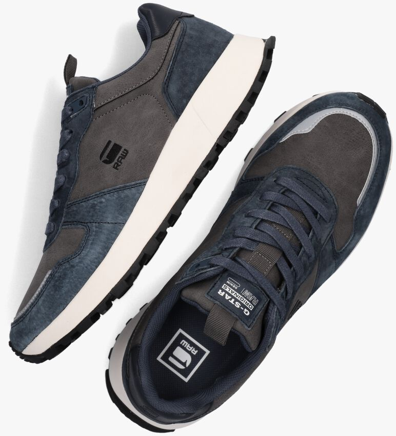 Grijze G-STAR RAW Lage sneakers THEQ RUN TNL M  - larger