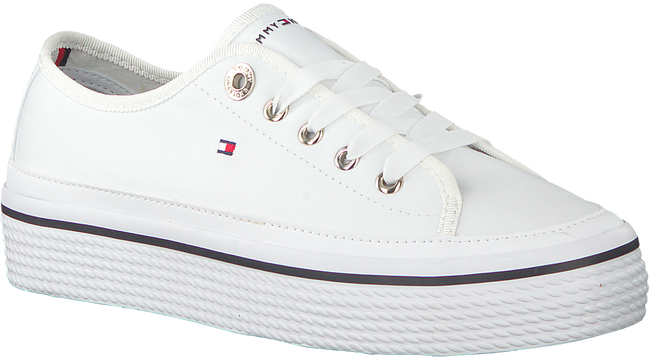 Witte TOMMY HILFIGER Sneakers CORPORATE FLATFORM SNEAKER  - large