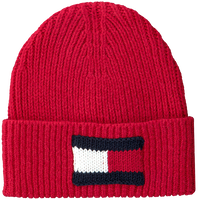 Rode TOMMY HILFIGER  Muts BIG FLAG BEANIE  - medium