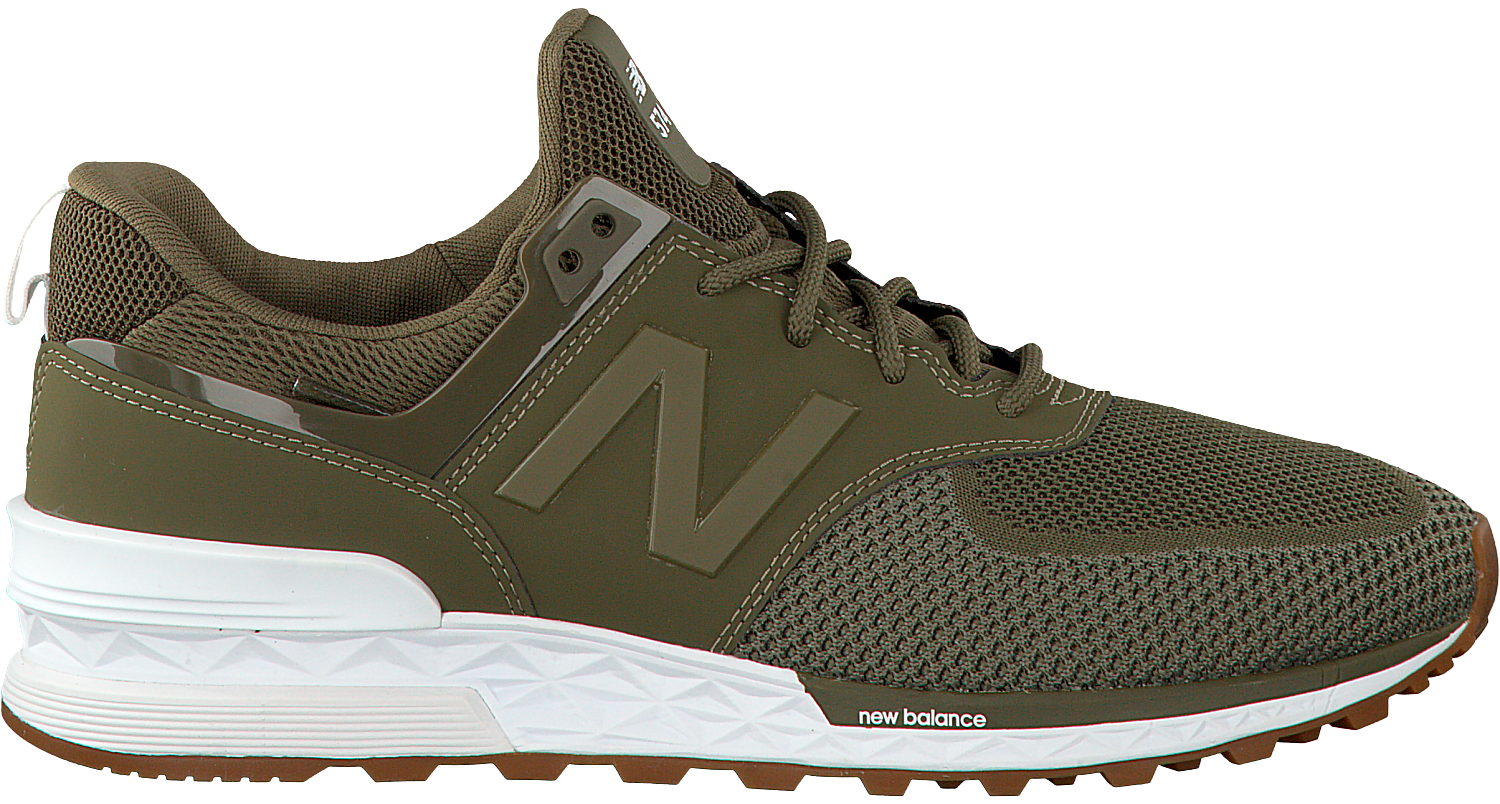 groene new balance sneakers ms574 heren