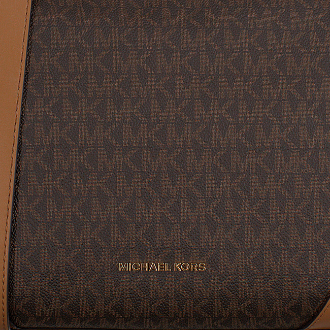 Bruine MICHAEL KORS Schoudertas CROSBY MD MESSENGER - large