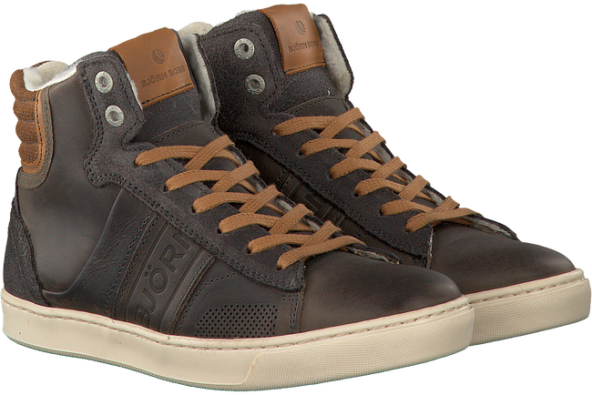 Grijze BJORN BORG Sneakers KANSAS HIGH FUR K  - large