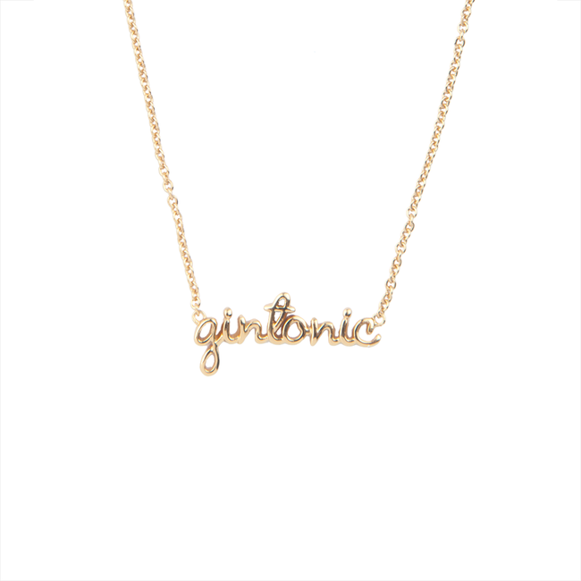Gouden ALLTHELUCKINTHEWORLD Ketting URBAN NECKLACE GINTONIC - large