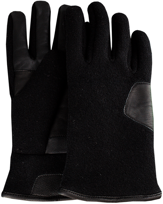 Zwarte UGG Handschoenen FABRIC AND LEATHER GLOVE - large