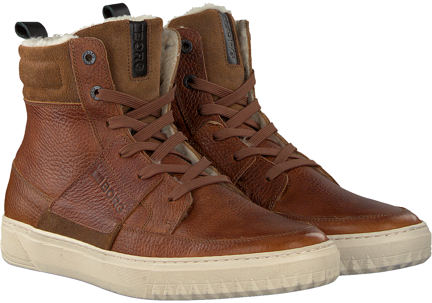 Cognac BJORN BORG Sneakers COLLIN HIGH Omoda.nl