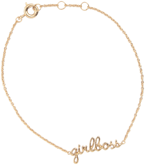 Gouden ALLTHELUCKINTHEWORLD Armband URBAN BRACELET GIRLBOSS - large