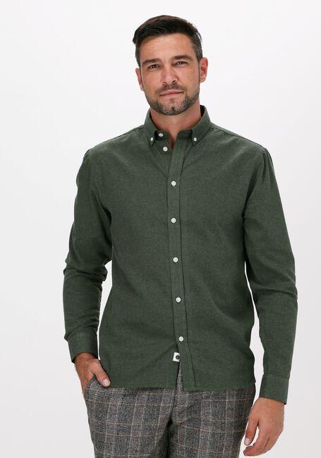 Donkergroene ANERKJENDT Casual overhemd AKKNORAD MELANGE SHIRT - large