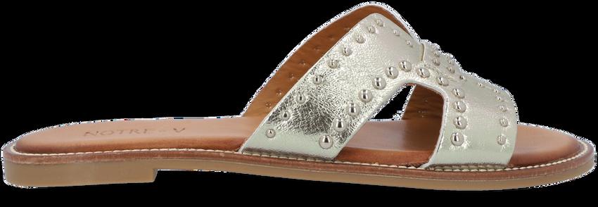 Gouden NOTRE-V Slippers 10346  - larger