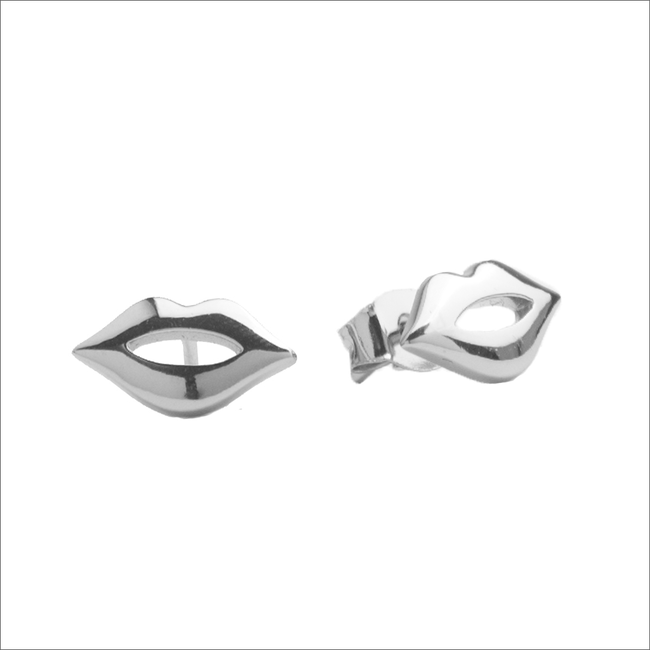Zilveren ATLITW STUDIO Oorbellen PARADE EARRINGS LIPS - large